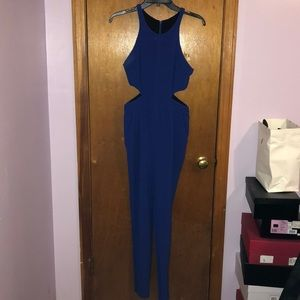 Jumpsuit in cobalt blue